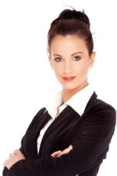 Studio shot of a beautiful smiling successful young business woman